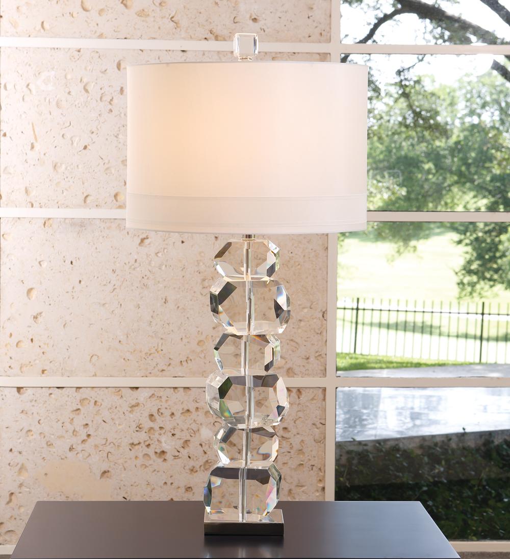 Stacked Gemstone Lamp