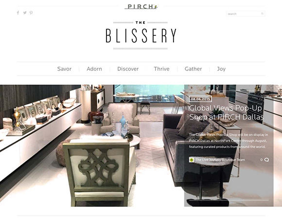 The Blissery, Global Views Pop-Up at PIRCH, Dallas