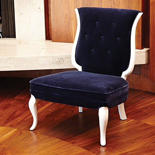 Lyre Chair- ink mohair