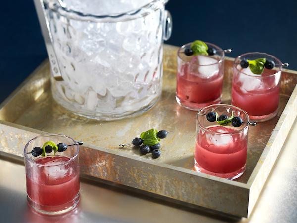 blueberry basil margarita craft cocktail